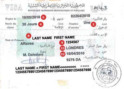 View samples of travel visas cibtvisas uk algeria visa altavistaventures Choice Image